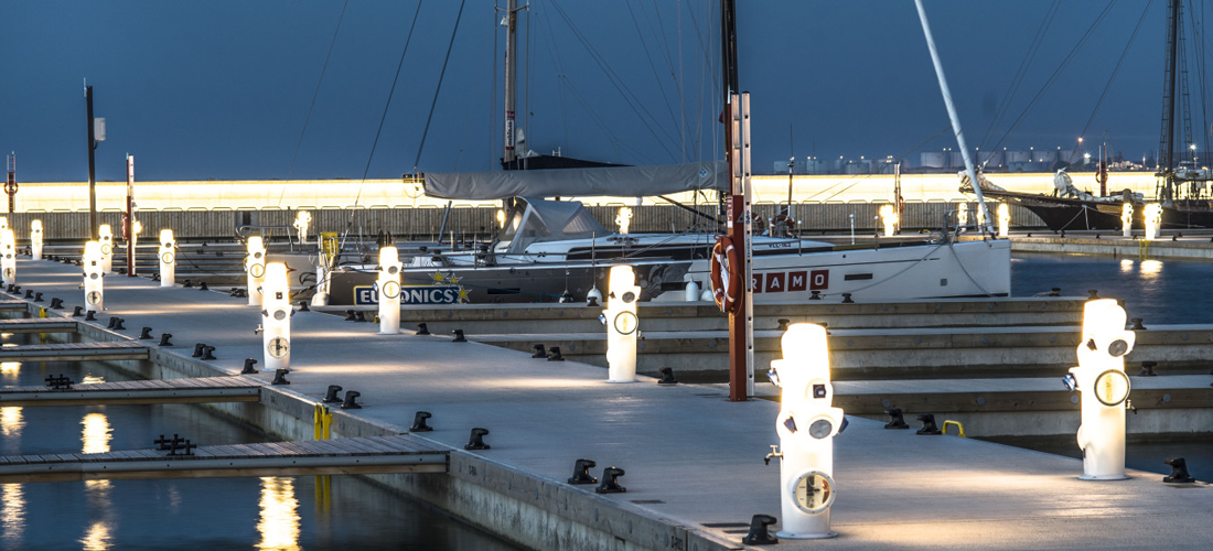 intelligent street lighting system for the first smart marina in